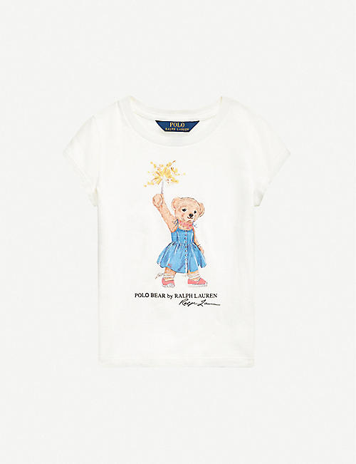 RALPH LAUREN: Bear-print cotton T-shirt 2-12 years