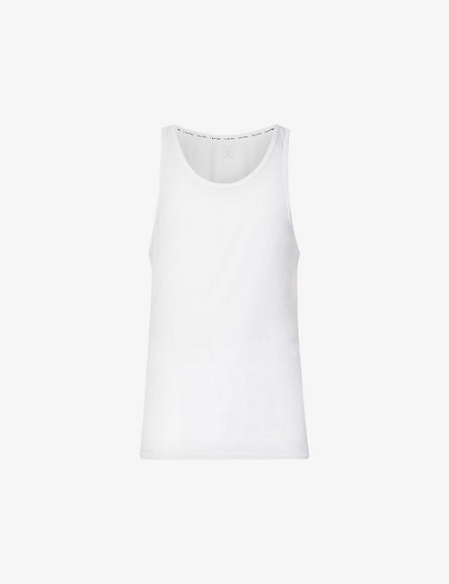 CALVIN KLEIN: CK One crew-neck cotton vests pack of two