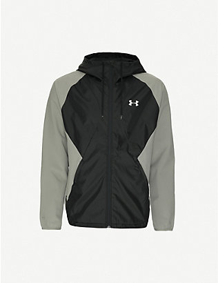 UNDER ARMOUR: Zipped drawstring-hood shell jacket
