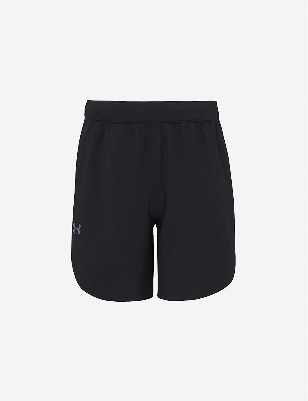 UNDER ARMOUR: Logo-waistband stretch-woven shorts