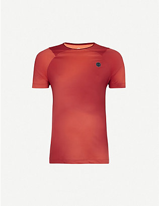 UNDER ARMOUR: Logo-print stretch-woven T-shirt