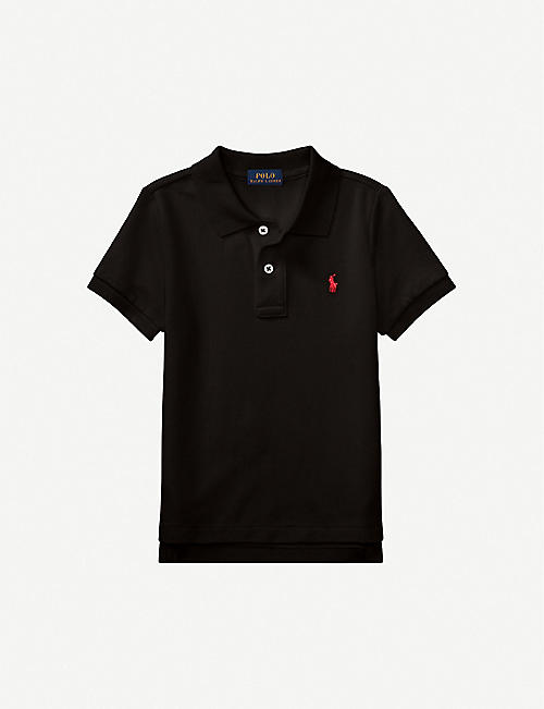 RALPH LAUREN: Logo-embroidered cotton polo shirt 2-4 years