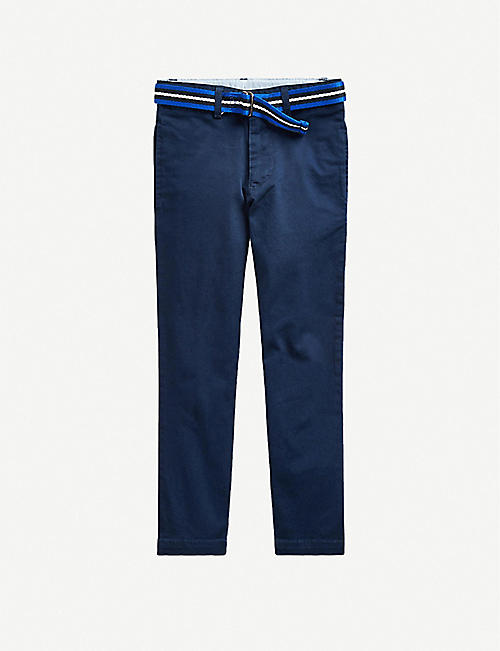 RALPH LAUREN: Cotton-blend chino trousers 2-16 years