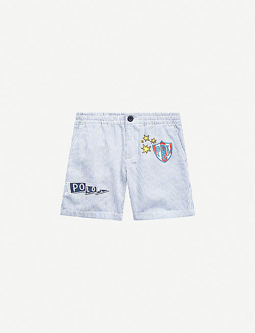 RALPH LAUREN: Striped cotton shorts 2-12 years