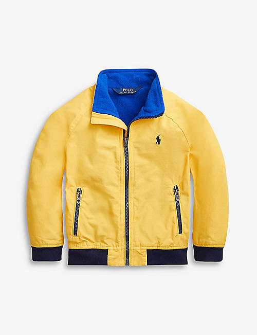 RALPH LAUREN: Logo-embroidered shell and fleece jacket 2-14 years