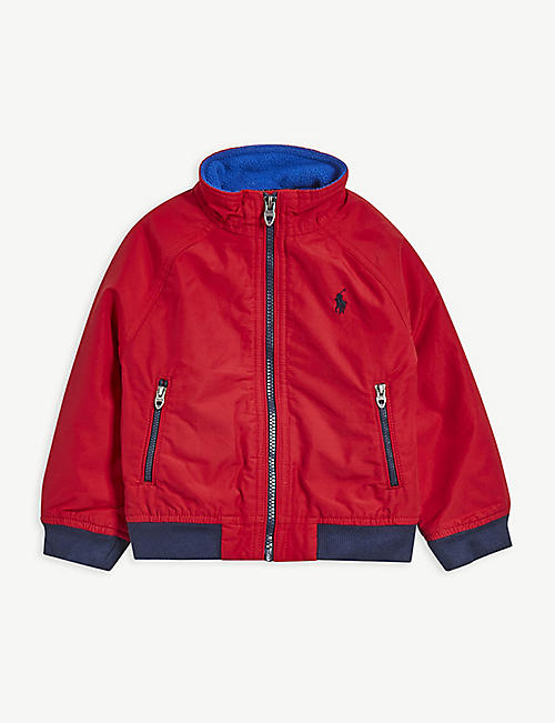 RALPH LAUREN: Logo-embroidered cotton-blend windbreaker jacket 2-14 years