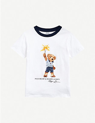 RALPH LAUREN: Sparkler Bear printed cotton-jersey T-shirt 2-14 years