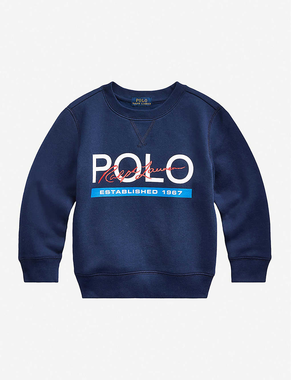 RALPH LAUREN: Logo-print cotton-jersey sweatshirt 2-14 years