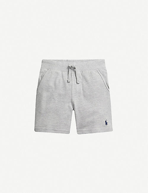 RALPH LAUREN: Logo-embroidered cotton shorts 2-14 years
