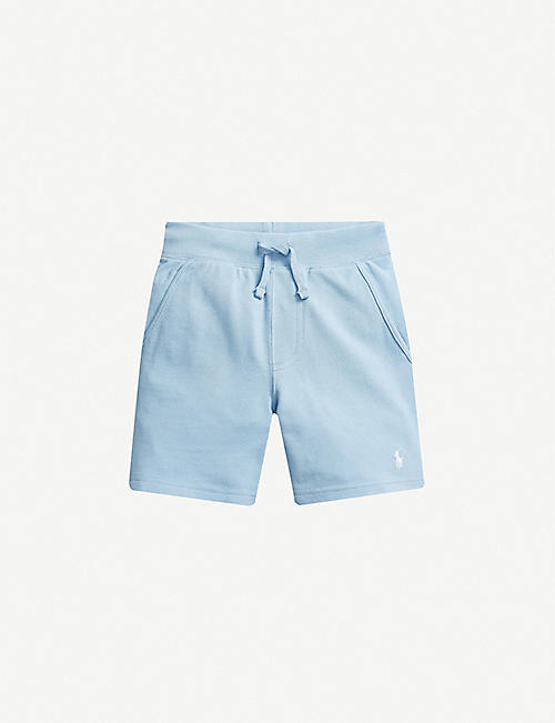 RALPH LAUREN: Logo-embroidered cotton-jersey shorts 2-14 years