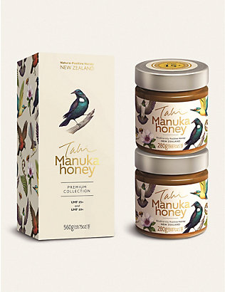 HONEY: Tahi Manuka honey UMF 10+ and 15+ gift set 560g