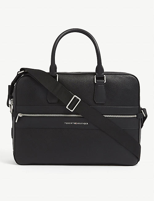 TOMMY HILFIGER: TH Modern faux-leather work bag
