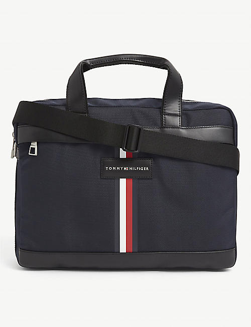 TOMMY HILFIGER: Uptown recycled-shell computer bag