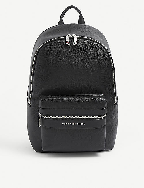 TOMMY HILFIGER: Modern faux-leather backpack