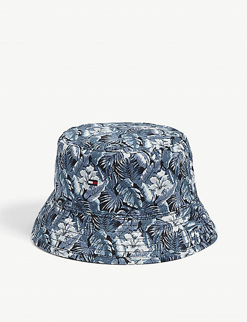 TOMMY HILFIGER: Reversible floral-print cotton bucket hat