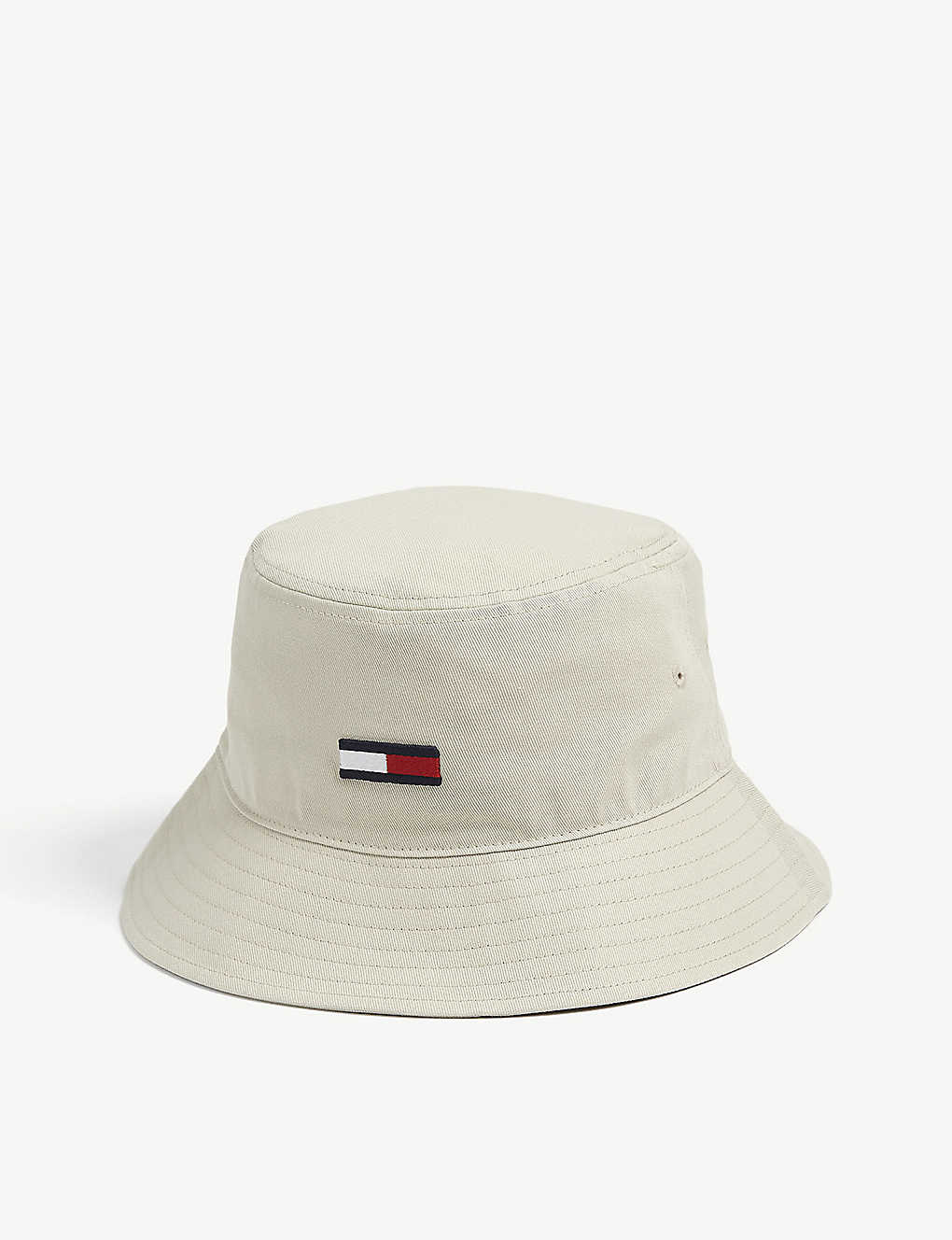 TOMMY HILFIGER: Logo-print cotton bucket hat