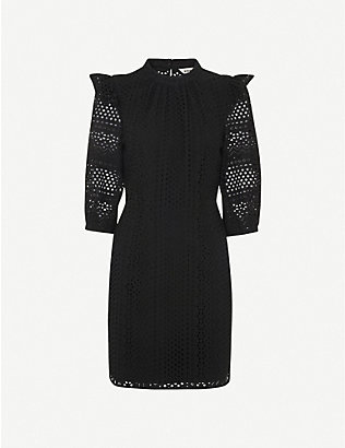 WHISTLES: Broderie cotton mini dress