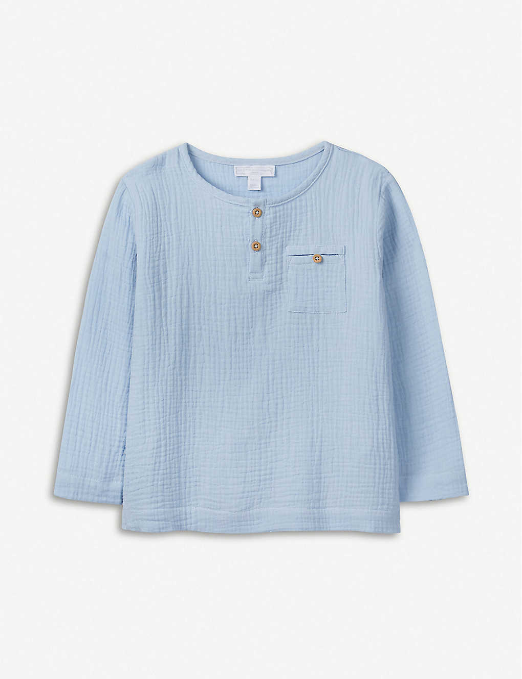 THE LITTLE WHITE COMPANY: Crinkled cotton top 1-6 years