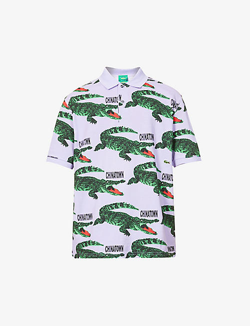 LACOSTE: Lacoste x Chinatown Market cotton-blend polo shirt