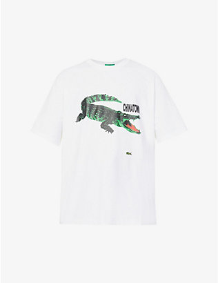 LACOSTE: Lacoste x Chinatown Market graphic-print cotton-jersey T-shirt