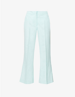 KITRI: Lilian flared high-rise woven trousers