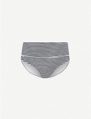 MELISSA ODABASH: Provence striped high-rise bikini bottoms