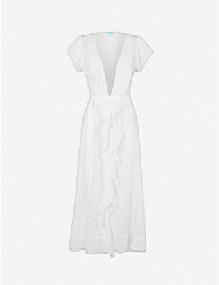 MELISSA ODABASH: Brianna ruffled cotton maxi dress