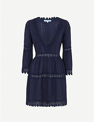 MELISSA ODABASH: Victoria Broderie Anglais cotton mini dress