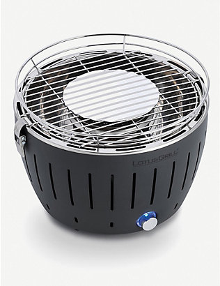 LOTUS GRILL: Mini stainless steel smokeless barbecue grill
