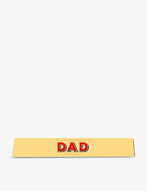 TOBLERONE: Toblerone Dad milk chocolate and nougat bar 100g