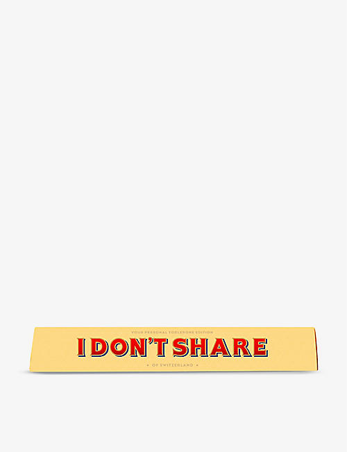 TOBLERONE: Toblerone I Don't Share milk chocolate and nougat bar 100g