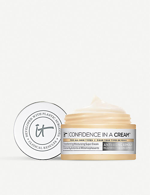 IT COSMETICS: Confidence in a Cream travel-sized moisturiser 15ml