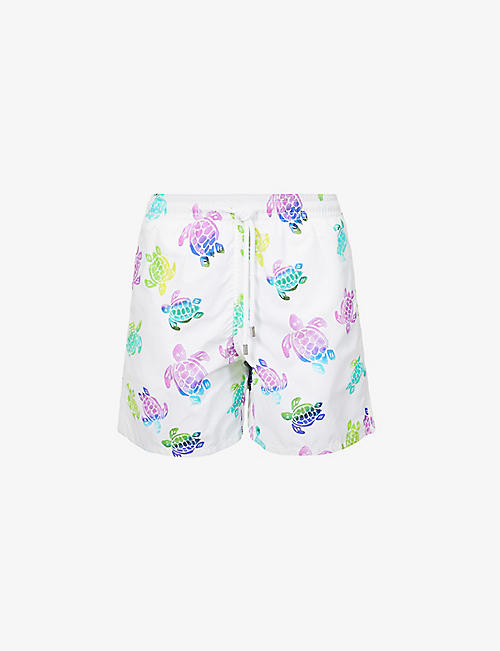 VILEBREQUIN: Turtle-print swim short