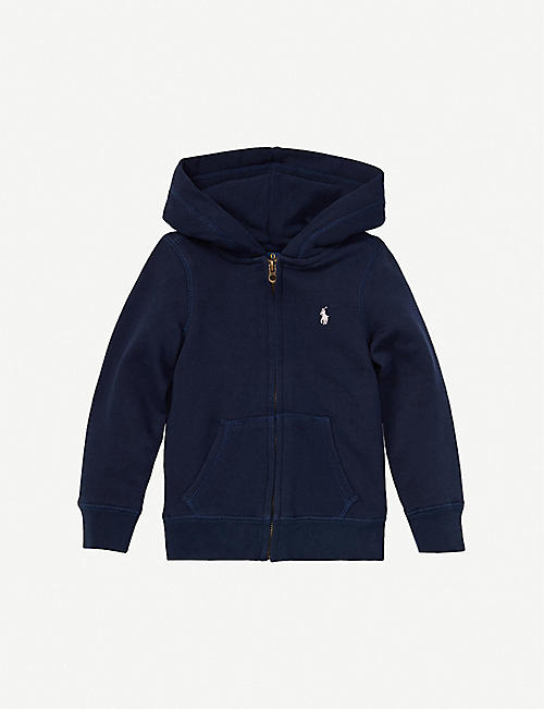 RALPH LAUREN: Logo-embroidered cotton-blend hoody 2-14 years