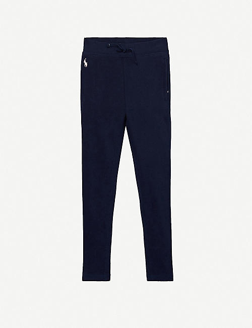 RALPH LAUREN: Logo-embroidered cotton-blend jogging bottoms 2-14 years