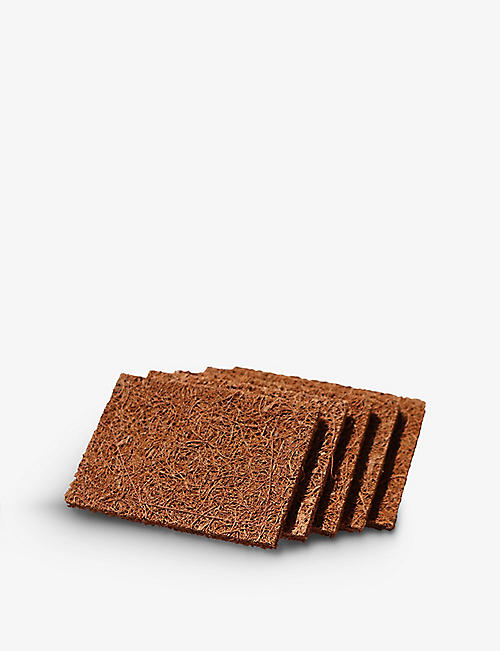 ZERO WASTE CLUB: Biodegradable coconut kitchen scourers pack of five