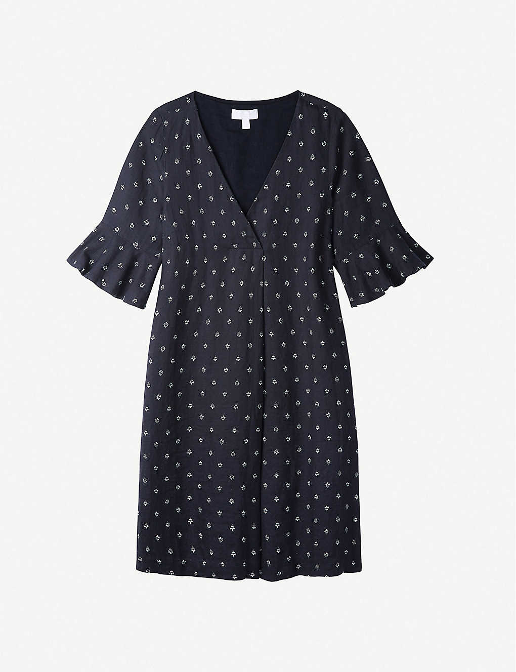 THE WHITE COMPANY: Formentera-print linen midi tunic dress