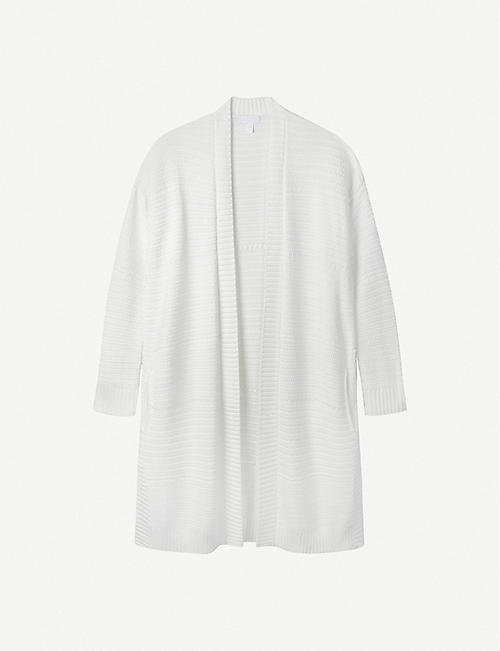 THE WHITE COMPANY: Shawl-collar cotton-knit cardigan