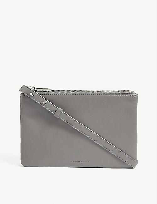 THE WHITE COMPANY: Double-pouch leather cross-body bag