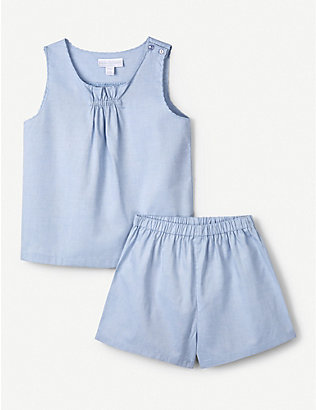 THE LITTLE WHITE COMPANY: Scallop-trimmed cotton pyjama set 1-6 years