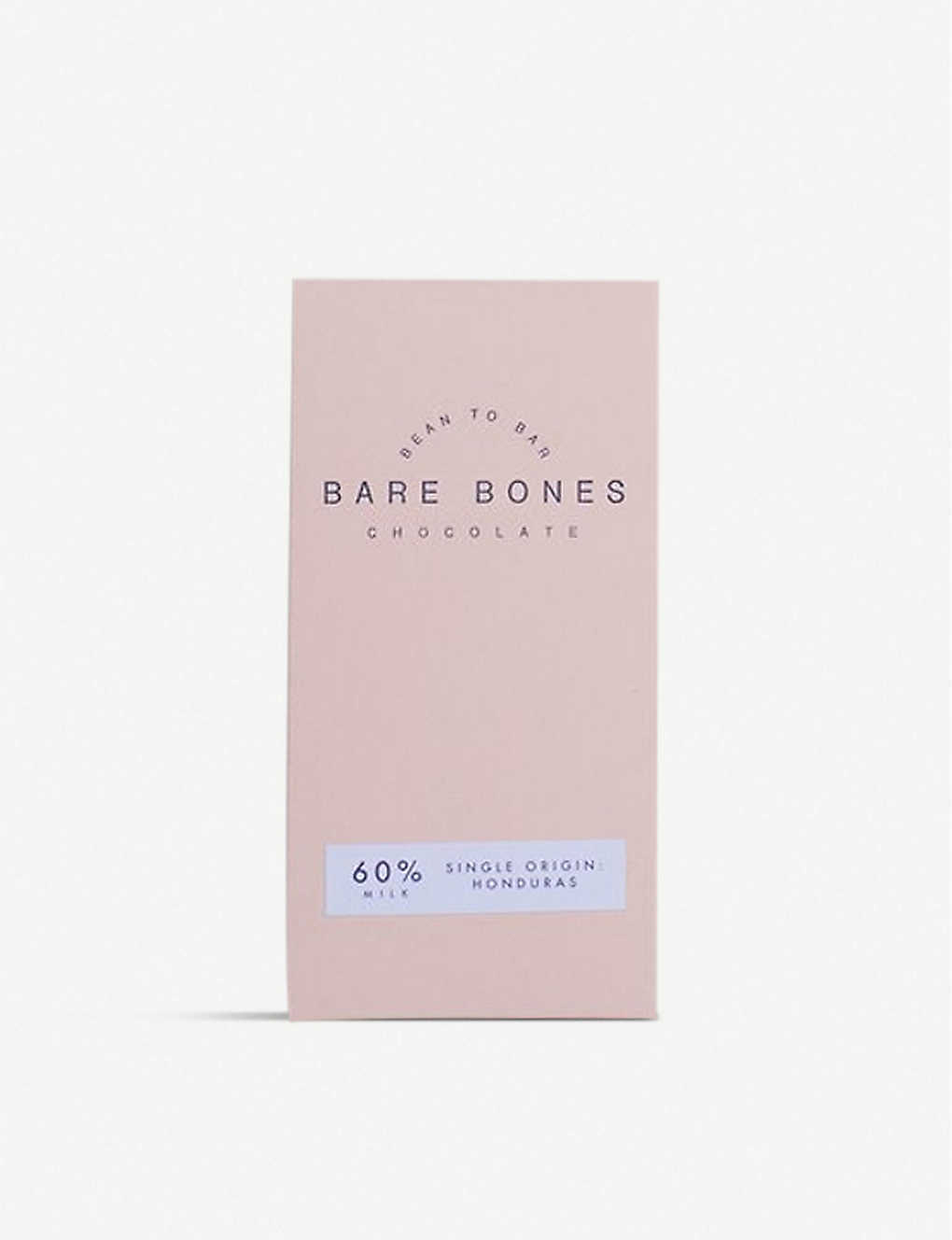 CHOCOLATE: Bare Bones Honduras 60% milk chocolate bar 70g