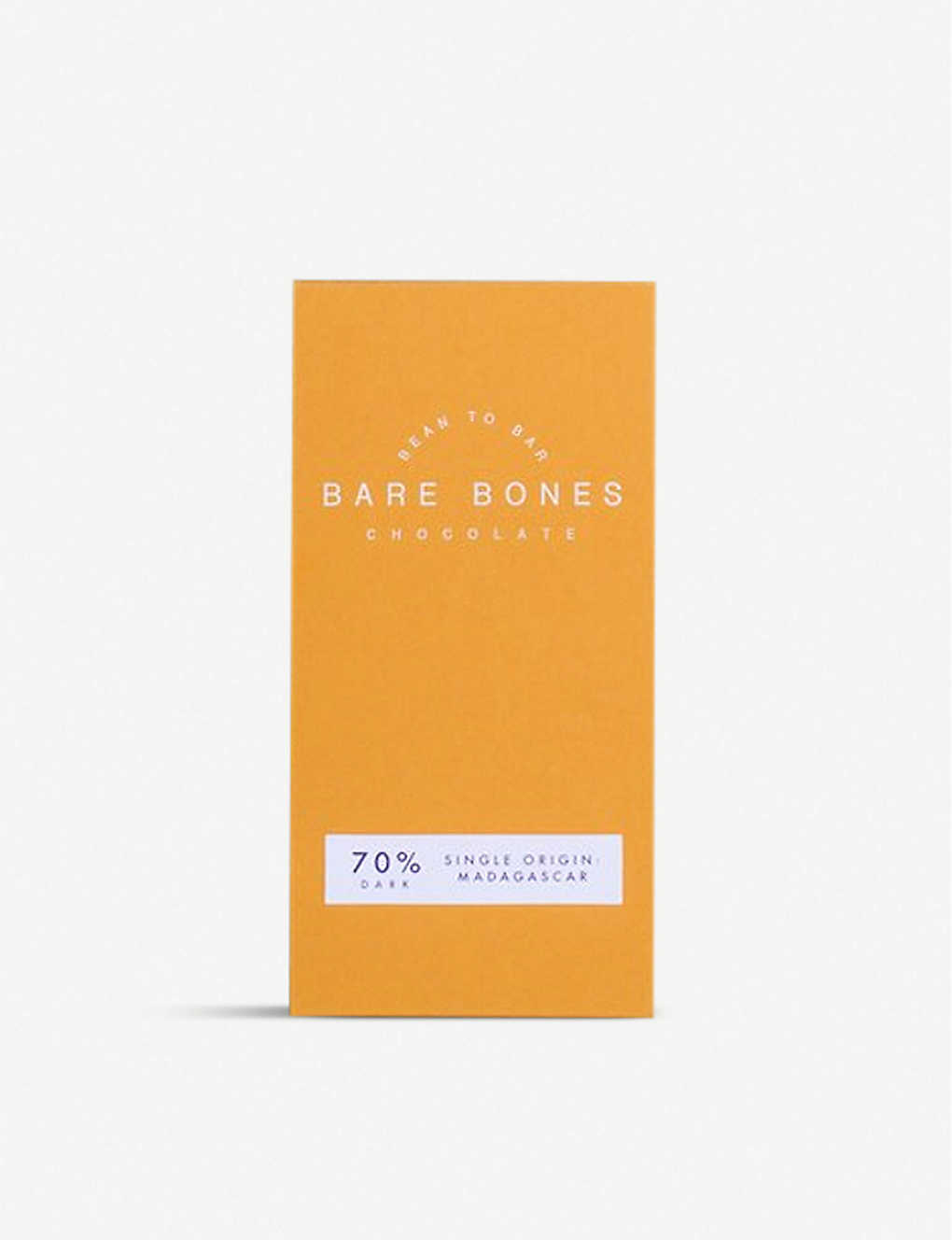 CHOCOLATE: Bare Bones Madagascar 70% dark chocolate bar 70g