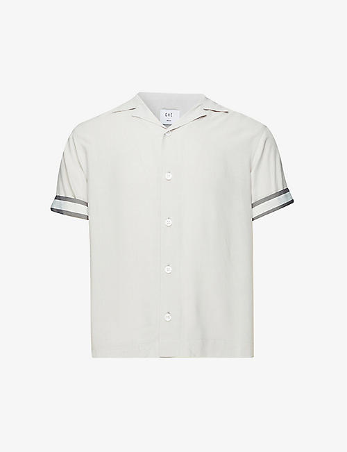 CHE: Valbonne striped relaxed-fit crepe shirt