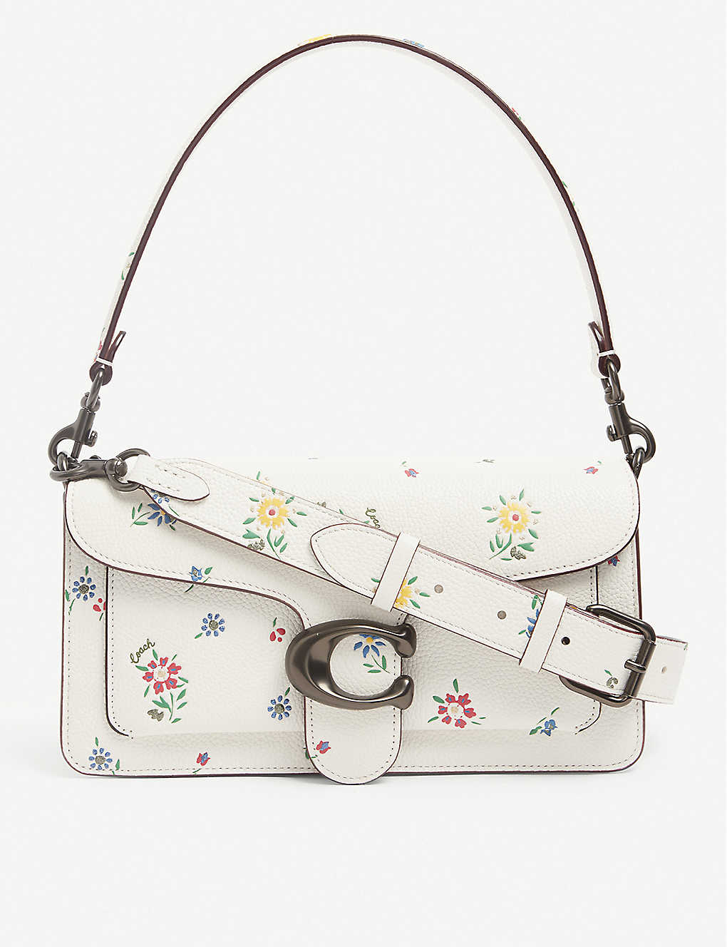 COACH: Tabby floral-print leather shoulder bag