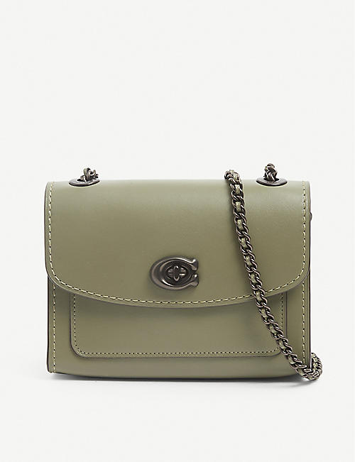 COACH: Parker mini leather shoulder bag