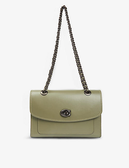 COACH: Parker leather shoulder bag