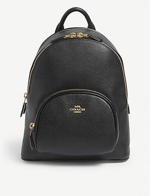COACH: Pebbled leather backpack
