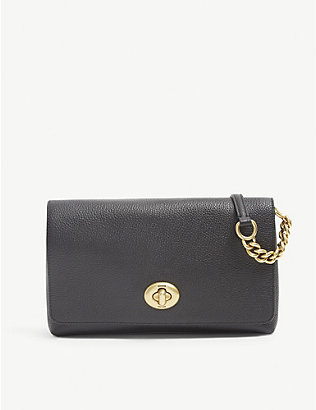 COACH: Crosstown leather cross-body bag