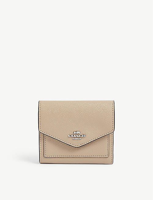 COACH: Logo-detail small leather wallet