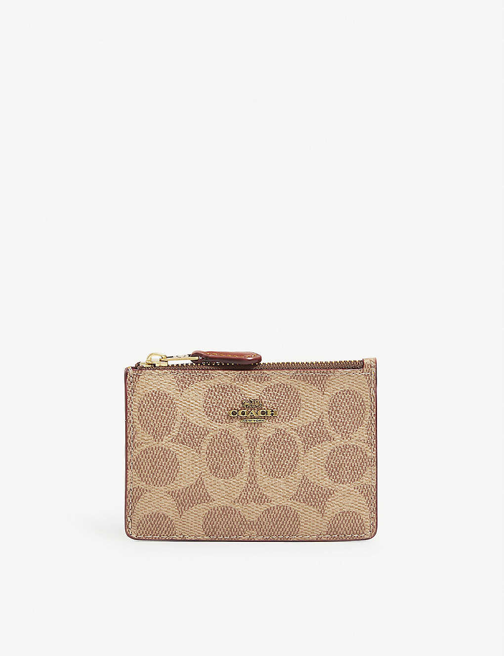 COACH: Mini Skinny ID coated-canvas pouch